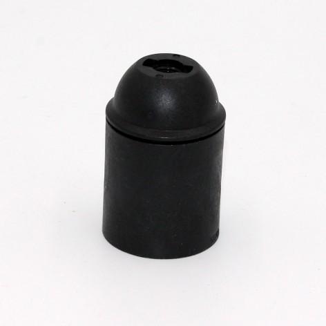 Casquillo liso negro E27