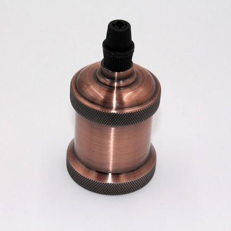 Casquillo vintage cobre E27